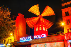 The Moulin Rouge cabaret in Paris Stock Photo