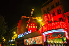 The Moulin Rouge cabaret in Paris Royalty Free Stock Images