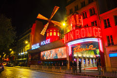 The Moulin Rouge cabaret in Paris Stock Images