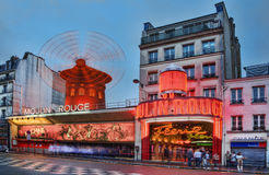 Moulin Rouge at Dusk Royalty Free Stock Images