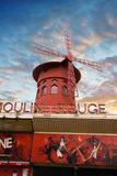Moulin Rouge in the evening Royalty Free Stock Photography