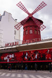 Moulin Rouge, Famous Cabaret Landmark in Paris France Royalty Free Stock Photography