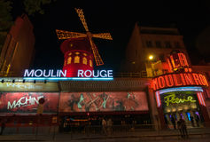 Moulin Rouge is a famous cabaret and thater in Paris, France. Royalty Free Stock Image