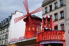 Moulin Rouge. The famous Moulin Rouge in Paris at Bd de Clichy Royalty Free Stock Photography