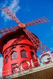 Moulin Rouge is a famous Parisian cabaret built in 1889 Royalty Free Stock Photos