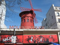 Moulin Rouge. The famous Moulin Rouge Theater in Paris Royalty Free Stock Photography