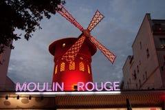Moulin Rouge-Kabarett Stockbilder