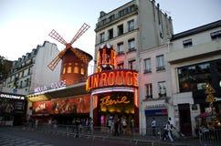 Moulin Rouge, Montmartre, Parigi, Francia Immagini Stock Libere da Diritti