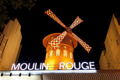 Moulin Rouge Montmartre Paris France Stock Image