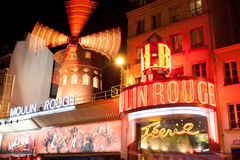 Moulin Rouge by night, Royalty Free Stock Image