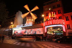 The Moulin Rouge at night, on May 3, 2013 in Pari Royalty Free Stock Images
