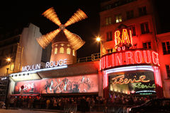 The Moulin Rouge at night Royalty Free Stock Photography