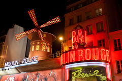 Moulin Rouge by night, Stock Photos