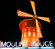 The Moulin Rouge by night,Paris Royalty Free Stock Photos