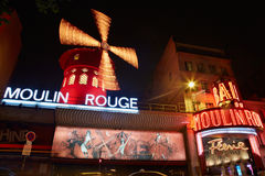 Moulin Rouge by night in Paris Royalty Free Stock Images