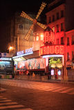 The Moulin Rouge by night Royalty Free Stock Photography