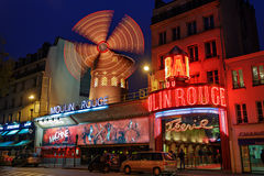 Moulin Rouge night view Royalty Free Stock Photography