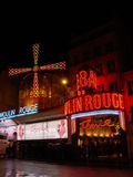The Moulin Rouge at night Royalty Free Stock Photos