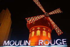 Moulin Rouge in Paris. The famous Moulin Rouge in Paris Royalty Free Stock Photo