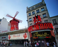 Moulin Rouge in Paris stock photo