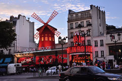 Moulin Rouge. Paris stock photography