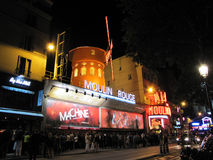 Moulin Rouge Paris. People waiting for the last show of the day at Moulin Rouge Paris Royalty Free Stock Photos
