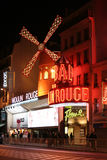 Moulin Rouge, Paris. December 2007 stock photos