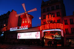 Moulin Rouge in Paris. Montmartre, Europe royalty free stock photo