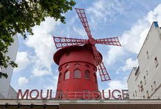 Moulin Rouge of Paris in daylight Stock Photography