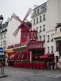 Moulin Rouge in Paris. It is a famous cabaret built in 1889, loc royalty free stock photography