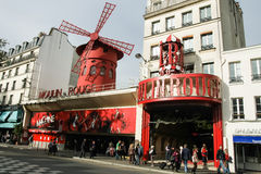 Moulin Rouge, Paris. The famous cabaret, Moulin Rouge from Paris, France Stock Images