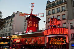 The Moulin Rouge in Paris Stock Photo