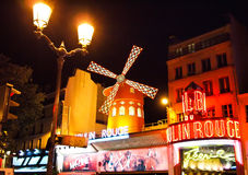 The Moulin Rouge in Paris , France Royalty Free Stock Image