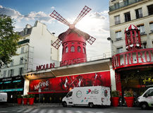 Moulin Rouge in Paris Stock Photography