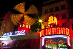 The Moulin Rouge in Paris Royalty Free Stock Images