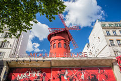 The Moulin Rouge in Paris, France Stock Photography