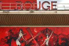 Moulin rouge paris france, red style Royalty Free Stock Photos