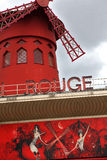 Moulin rouge paris france, red windmill Royalty Free Stock Photos