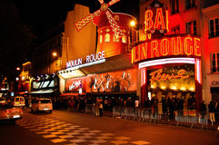 Moulin Rouge at Paris in France Royalty Free Stock Photography
