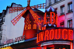 The Moulin Rouge in Paris, France Stock Photo