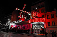 Moulin rouge Paris Frane Arkivfoto