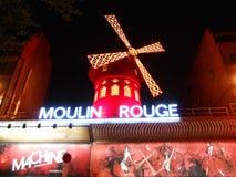 Moulin rouge, Paris, Frankrike Fotografering för Bildbyråer