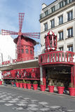 Moulin rouge - Red windmill Royalty Free Stock Image