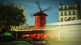The Moulin Rouge windmill,is a famous cabaret built in 1889 Royalty Free Stock Images