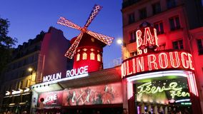 Moulin Rouge stock video