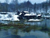 moulin sur l'eau Photographie stock