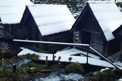 moulin sur l'eau Photo stock
