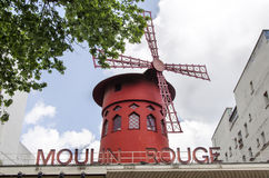 Moulin szminka - Paryż fotografia stock