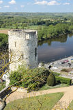 The Moulin Tower and river Vienne. Chinon. France Royalty Free Stock Photos