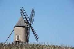 Moulin a vent in Beaujolais Royalty Free Stock Photography
